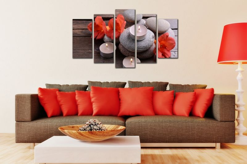 Paintings online. Wall art decoration (set of 5 pieces) A bouquet ...