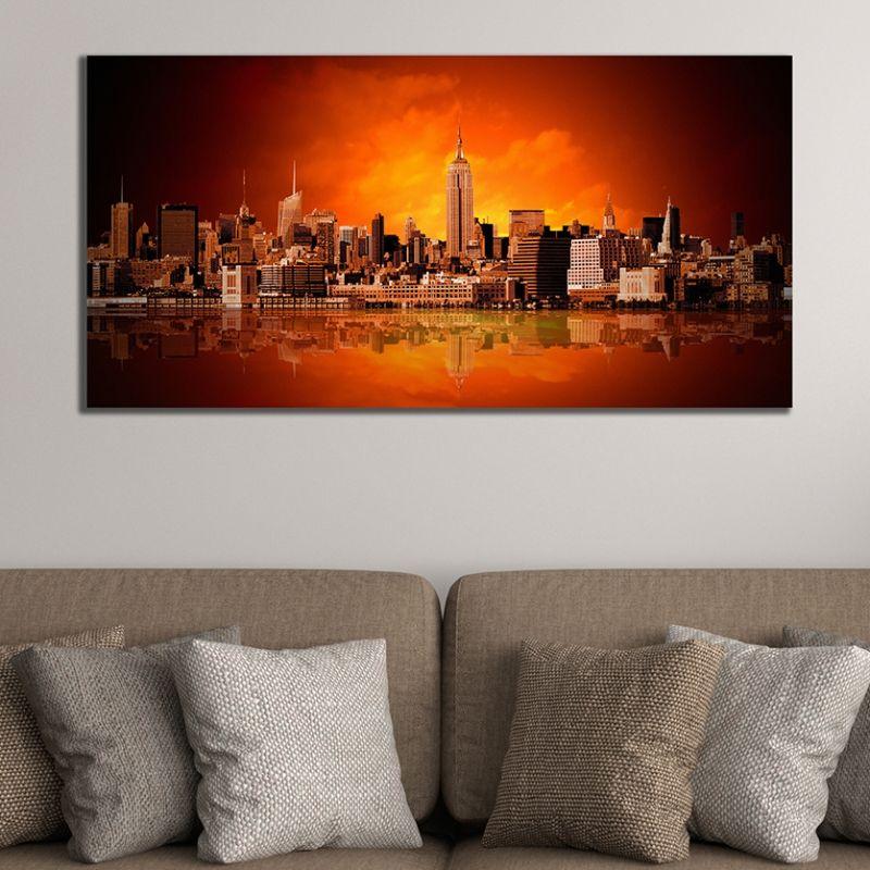 Cityscape Wall Art online modern wall art decoration. cityscape new york - panorama