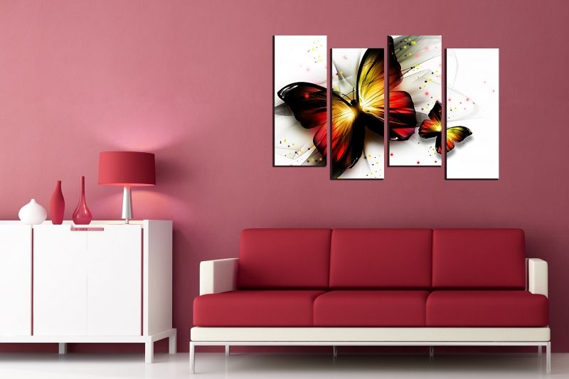 Modern Wall art decoration Abstract butterflies