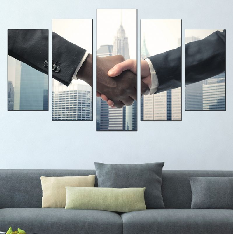 Decorations for offices. Wall art decoration set Business