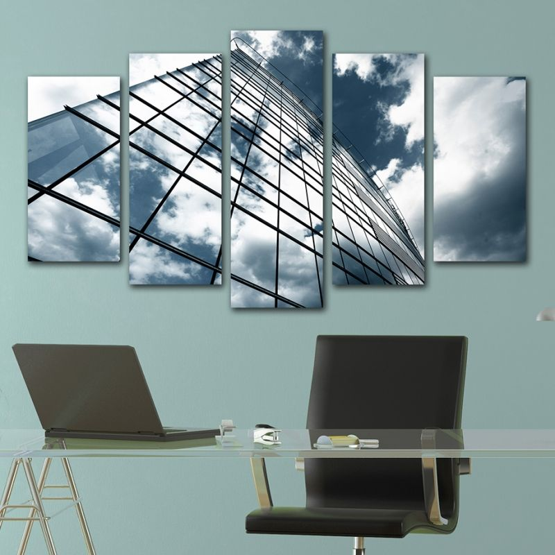 Office Wall Decor Set : Office wall art decoration set of pieces building