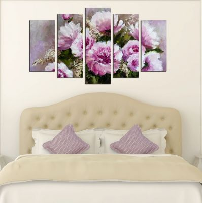 purple bedroom wall art