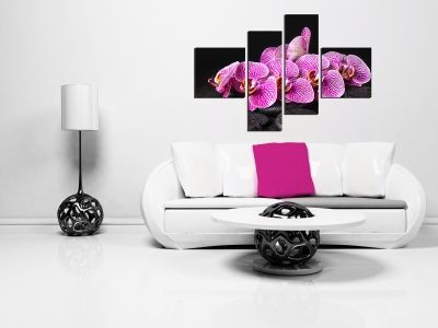 Canvas decoration purple orchids