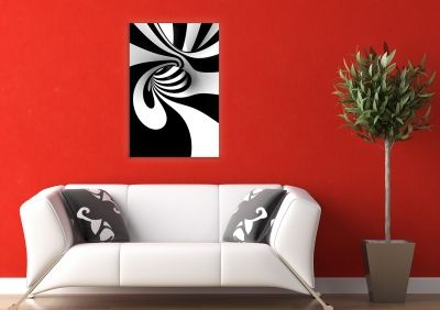 Wall decoration in black and white