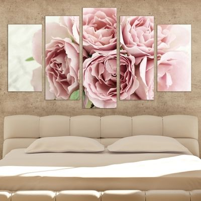 0261 Wall art decoration (set of 5 pieces) Gentle fragrance