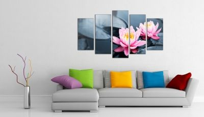 Wall art decoration Water lilies