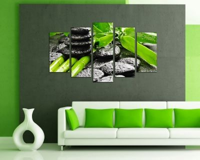 Wall art decoration spa bamboo