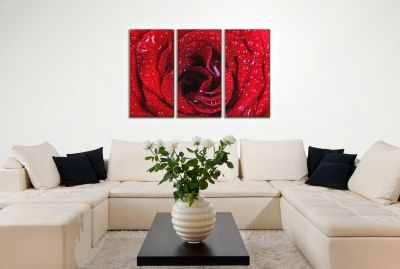 Canvas wall art with red rose