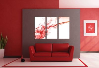 Wall art decoration abstract red smoke