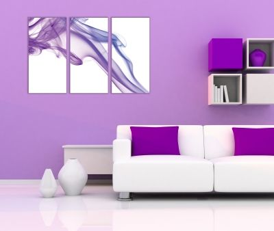 Wall art decoration abstract purple smoke