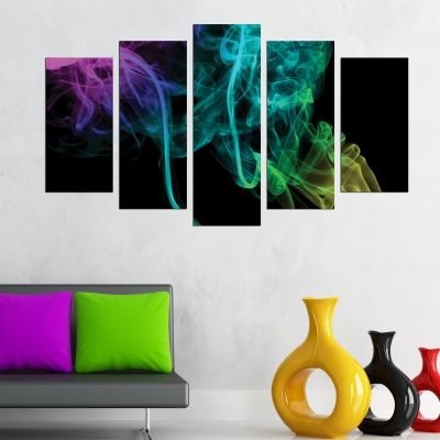 Abstract canvas art color smoke