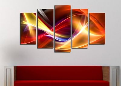 Abstract wall art with color wavese