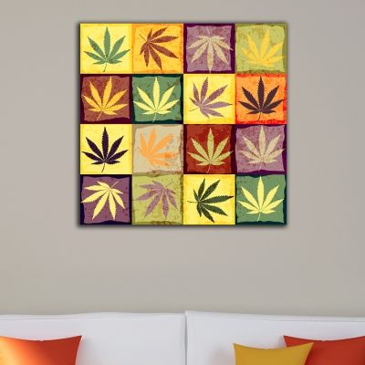 0290 Wall art decoration Color leaves