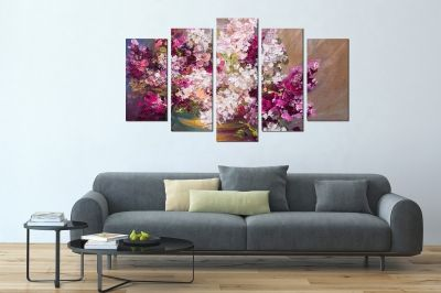 Painting canvas wall art in purple