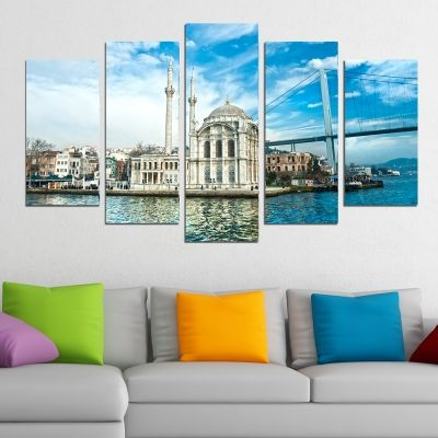 0300 Wall art decoration (set of 5 pieces) Istanbul