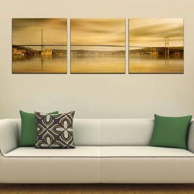 0302 Wall art decoration (set of 3 pieces) Istanbul