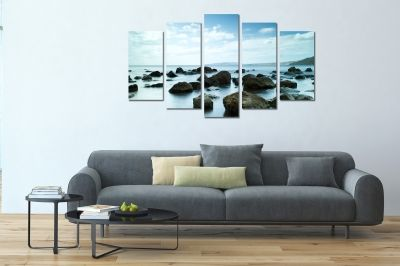 Canvas fine art decoration with sea and sky
