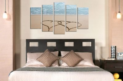 Canvas wall art decoration with hearts for bedroom