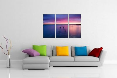 Canvas wall art set of 3 pieces Sea