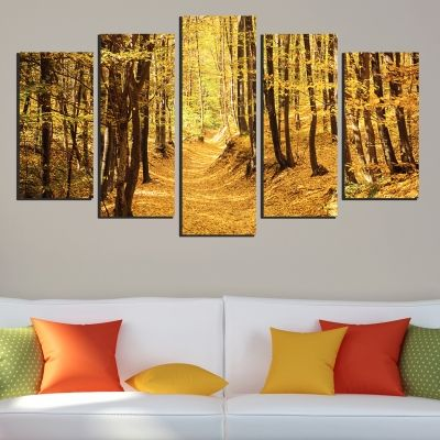 0319 Wall art decoration (set of 5 pieces) Autumn
