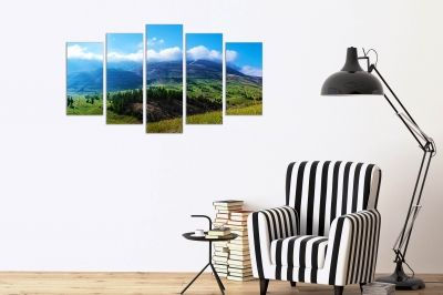 Canvas wall art with beautiful mountain