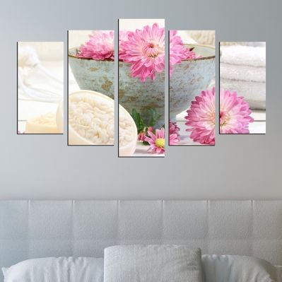 0329 Wall art decoration (set of 5 pieces) Spa ritual