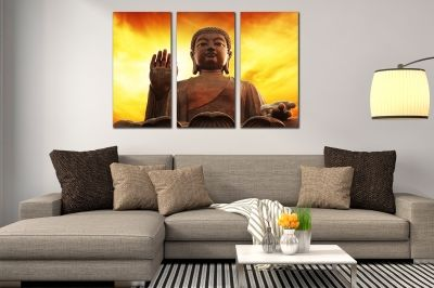 Canvas wset of 3 pieces Buddha