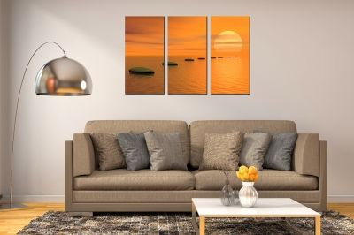 Canvas set of 3 pieces for living room