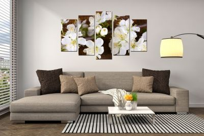 brown and white canvas wall art for home decoration