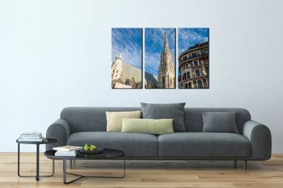 Canvas set of 3 pieces Vienna