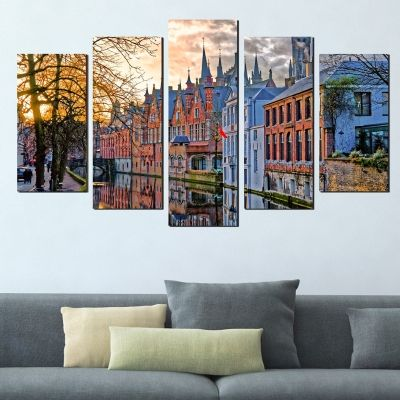 0361 Wall art decoration (set of 5 pieces) Bruges