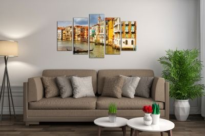 Wall art canvas set 5 pieces Venece