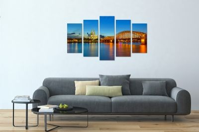 Wall art set 5 pieces Cologne
