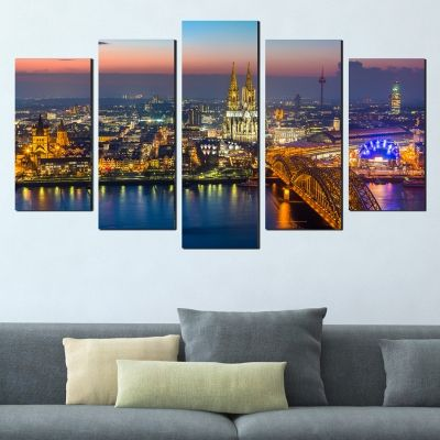 0371 Wall art decoration (set of 5 pieces) Cologne