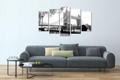 Wall art set 5 pieces London tower brige