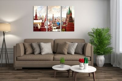Wall art set of 3 pieces Moscow
