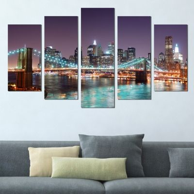 0380 Wall art decoration (set of 5 pieces) New York