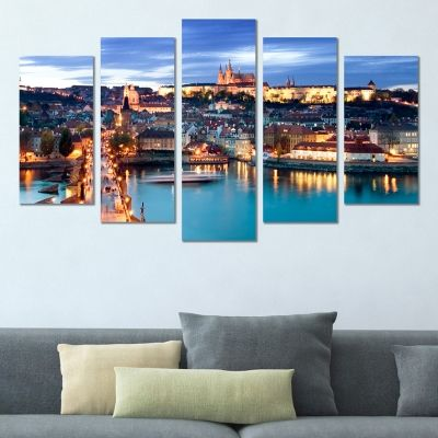 0385 Wall art decoration (set of 5 pieces) Prague