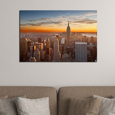0393 Wall art decoration New York - sunset