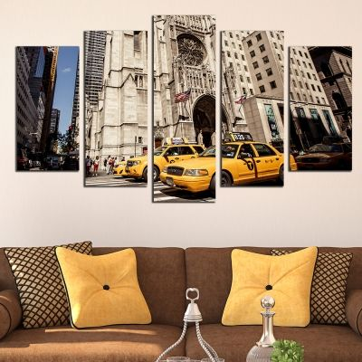0403 Wall art decoration (set of 5 pieces) New York 5th avenue