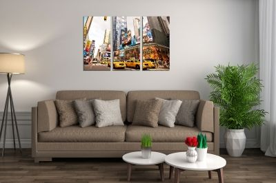 Wall art set of 3 pieces New York