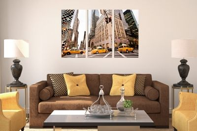Wall art canvas set of 3 pieces New York