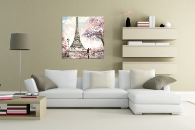 Paris painting canvas wall art