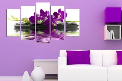 wall art decoration with Purple orchid