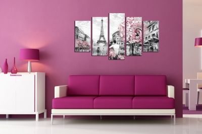 Wall art set Lovers in Paris for bedroom