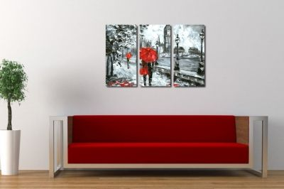 Wall art canvas set of 3 pieces for bedroom London
