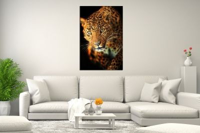 Canvas wall art Leopard