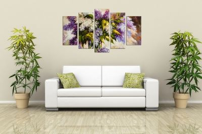 Art canvas decoration for wall with lilac