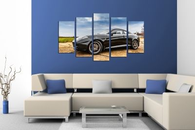 Art canvas decoration for wall withblack car