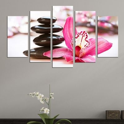 0453 Wall art decoration (set of 5 pieces) Zen compsition